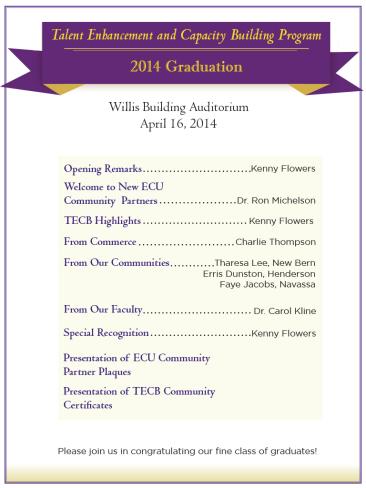 TECB Graduation Invite